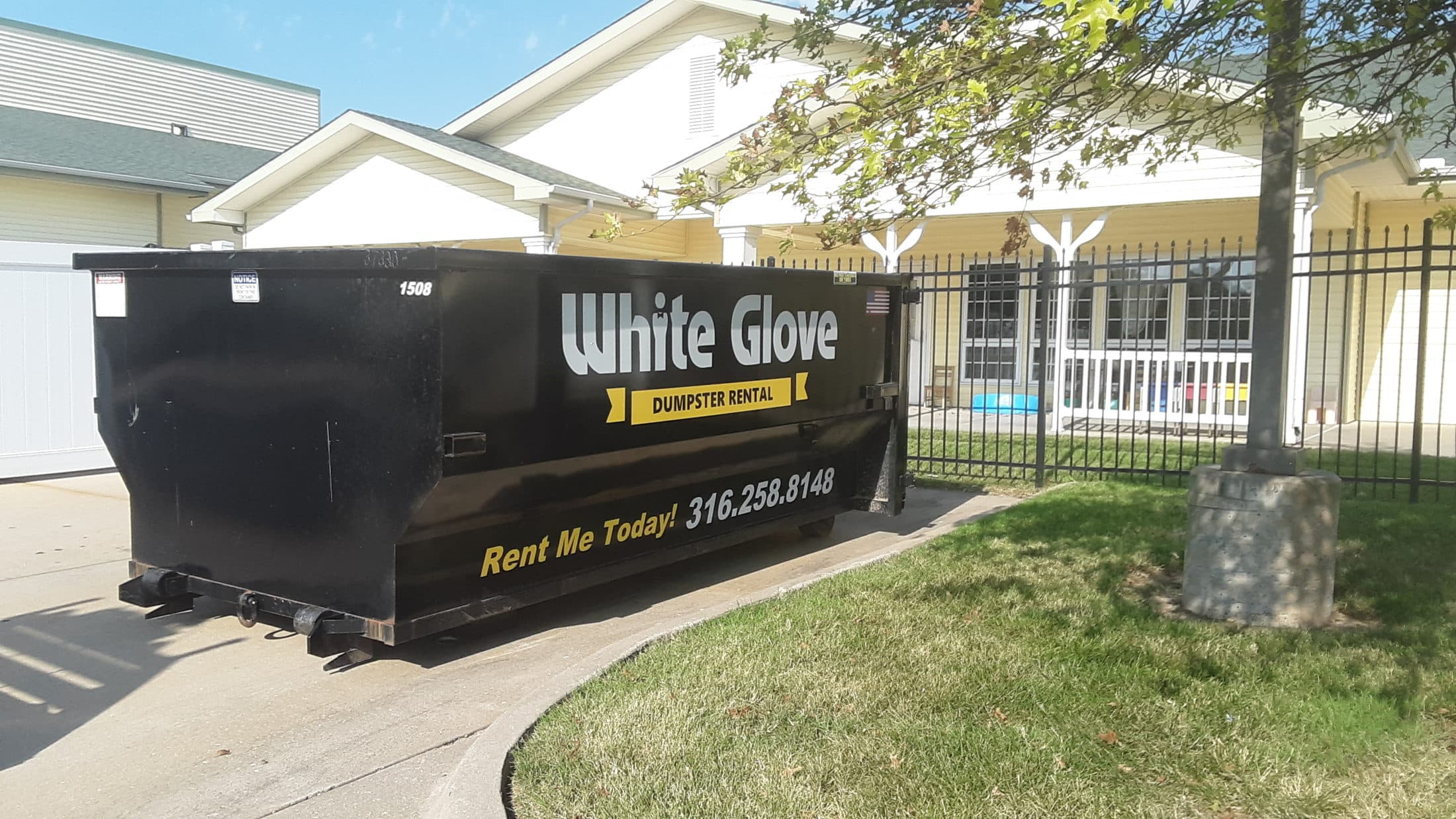Contact White Glove Dumpster Rental